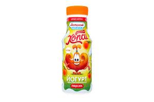 Йогурт персик 1.5% пет Хопси 200г
