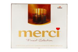 Конфеты 4 сорта горького шоколада Merci 250г