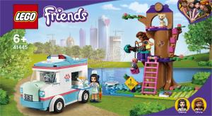 Конструктор для дітей від 6років №41445 Швидка ветклініки Friends Lego 1шт