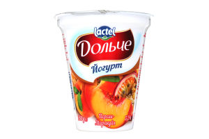 Йогурт Дольче персик-маракуйя 3,2% 280 Стакан