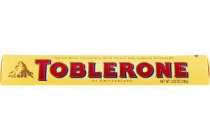 Toblerone of Switzerland Swiss Milk Chocolate with Honey and Almond Nougat