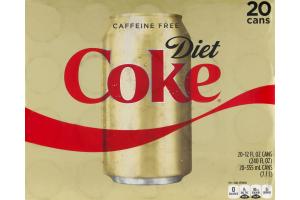 Diet Coke Caffeine Free - 20 PK