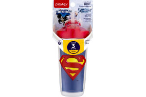 Playtex Sipsters Stage 3 Insulated Spill-Proof Spout Cup DC Super Friends