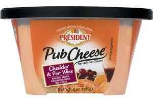 President Pub Cheese Cheddar & Port Wine