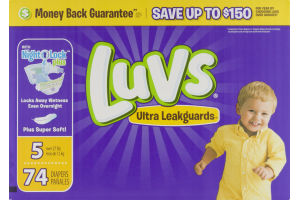 Luvs Diapers Ultra Leakguards 27 lb - 74 CT
