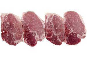 Center Cut Bone-In Pork Loin Chops - 4 ct