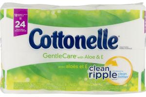 Cottonelle Toilet Paper Gentle Care with Aloe & E - 12 CT