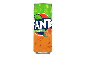 Напій безалкогольний сильногазований зі смаком манго та гуави Fanta з/б 330мл