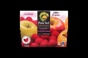 Пюре из яблок и малины