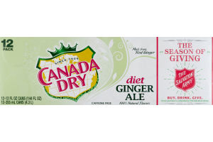 Canada Dry Ginger Ale Diet - 12 PK