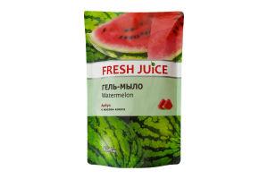 Гель-мыло жидкое с глицерином Арбуз Fresh Juice запаска 460мл