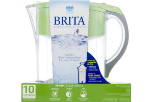 Brita Water Filtration System Grand Color Series 10 Cup Pitcher