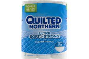 Quilted Northern Ultra Soft & Strong Double Rolls with Cleanstretch - 12 CT