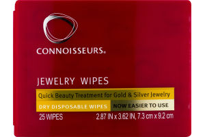Connoisseurs Jewelry Wipes Dry Disposable Wipes - 25 CT