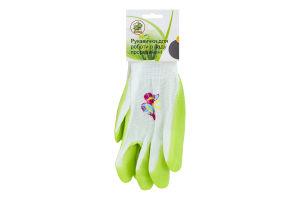 Перчатки для работы в саду прорезиненые Y*-1