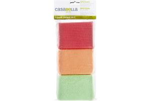 Casabella Shiny Microfiber Sponges- 3 CT