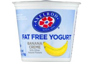 Axelrod Fat Free Yogurt Banana Creme