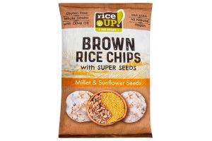 Чипсы рисовые Millet&Sunflower Seeds Rice Up! м/у 60г