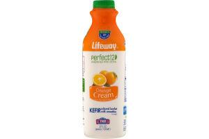 Lifeway Perfect12 Kefir Cultured Lowfat Milk Smoothie Orange Cream