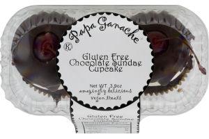 Papa Ganache Gluten Free Cupcake Chocolate Sundae