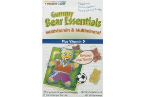 Rainbow Light Gummy Bear Essentials Multivitamin & Multimineral Plus Vitamin D Gummies - 90 CT