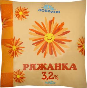 Ряженка Добриня 3,2% п/э