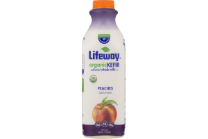 Lifeway Organic Kefir Cultured Whole Milk Peaches and Cream