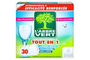 Таблетки для миття посуду в ПММ L`Arbre Vert 30шт