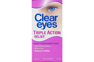 (CN) Clear Eyes Triple Action Relief, Clear Eyes Soulagement Triple-Action