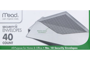 Mead No. 10 Security Envelopes - 40 CT