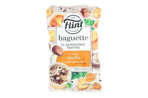 Сухарики пшеничні Flint Baguette зі смаком грибів у вершковому соусі 60г