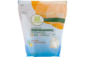 Grab Green Automatic Dishwashing Detergent Pods Tangerine With Lemongrass - 60 CT