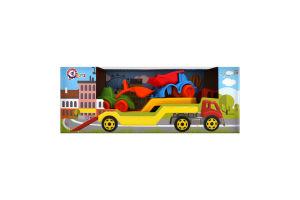 Іграшка для дітей від 3років №3930 Автовоз з набором Будмайданчик Технок 1шт
