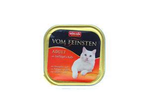 Корм Vom Feinsten для котів птиця-телятина 100г