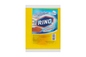 RINO серветки для прибирання універсальні віскозні 3шт