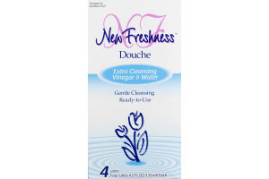 New Freshness Douche Extra Cleansing Vinegar & Water - 4 CT