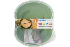 Preserve Food Storage Square Apple Green 2 PK