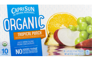 Capri Sun Organic Juice Drink Tropical Punch - 10 CT