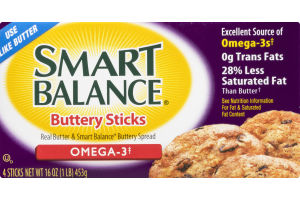 Smart Balance Buttery Sticks Omega 3 - 4 CT