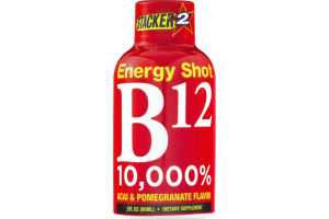 Stacker 2 B12 10,000% Energy Shot Acai & Pomegranate Flavor