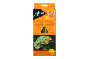 """Олівці пластикові """"Animal World"""", 12 кольорів. Матеріал: пластик, тригранні, загострені, довжина олівців 17,5 см, в картонній коробці з підвісом, яскраві кольори. Товщина грифеля 2,7 мм."""