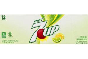 7 UP Diet Soda Lemon Lime - 12 PK