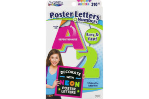 ArtSkills Poster Letters & Numbers - 310 PC