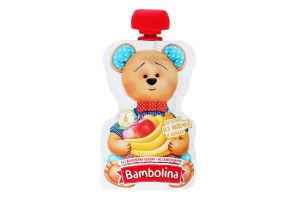 Пюре для дітей від 6міс з яблук та банана Bambolina д/п 90г