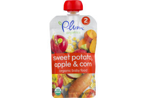 Plum Organics Sweet Potato, Apple & Corn Organic Baby Food Stage 2