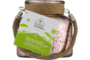 Smart Living Summer Mercury Canister With LED String Lights