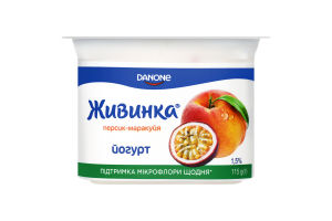 Йогурт 1.5% Персик-маракуйя Живинка ст 115г