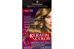 Schwarzkopf Keratin Color Anti-Age Hair Color Caramel Blonde