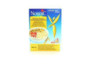 Хлопья овсяные с пшеничными отрубями Nordic 600г