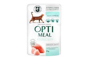 Конс/ПАУЧ Optimeal Для стерил.котів з індичк.та кур.філе у соусі 0,085кг